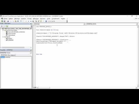 Excel 2013 : Comment incorporer WordPad dans Excel en moins de 6 min avec EXCEL VBA.