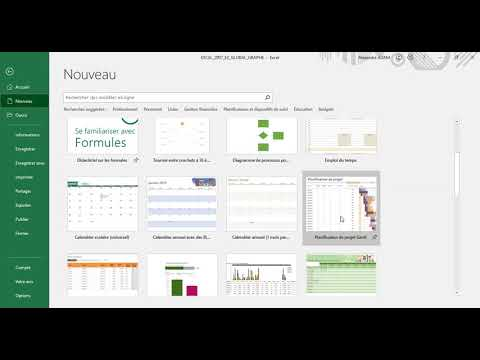 Excel 2016 : présentation de l'interface Excel 2016 en moins de 6 min.