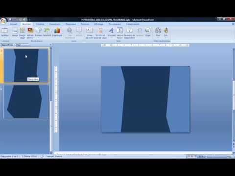 Powerpoint 2007 : Comment faire un écran fragmenté sur Powerpoint en moins de 4 min.