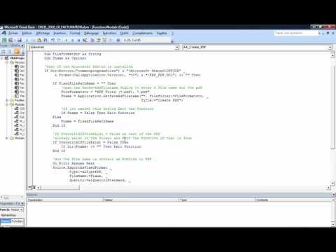 Excel 2010 : Comment générer un pdf d'une plage de cellule Excel en VBA en moins de 6 min.