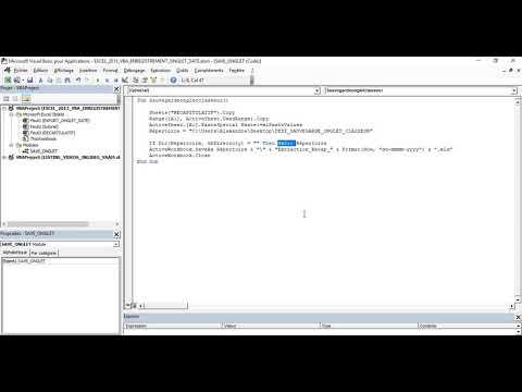 Excel 2013 : Comment sauvegarder un onglet avec date dans répertoire sur Excel VBA en moins de 5 min