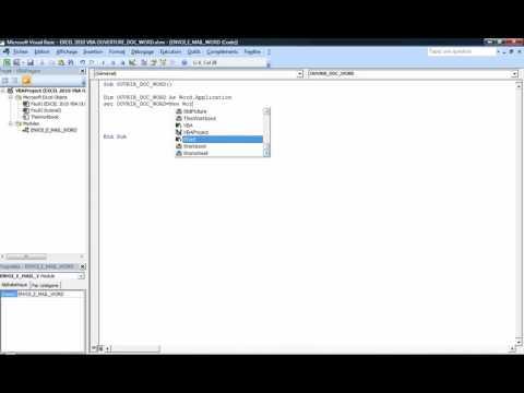 Excel 2010 : Comment ouvrir un document Word 2010 en VBA en moins de 4 min.