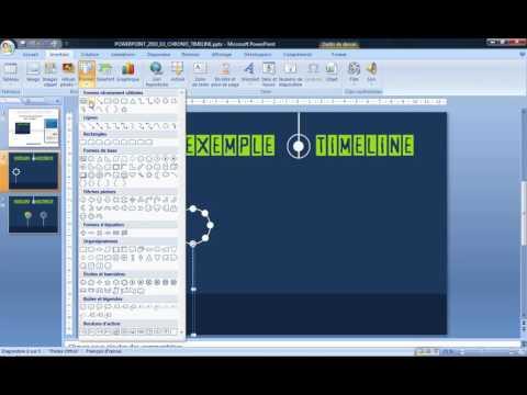 Powerpoint 2007 : Comment faire une timeline sur Powerpoint en moins de 4 min.